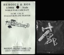 Heroics & Ros 6mm WWII Italian Aircraft IA302 Fiat CR.32 Biplane Fighter x 1